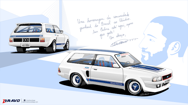 """Imagem mostrando o desenho do Ford Belina II """"650 CLN"""""""