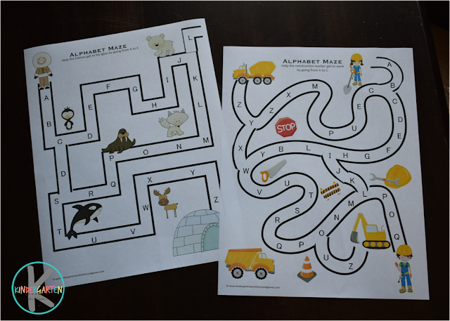free printable alphabet worksheets for preschool kindergarten