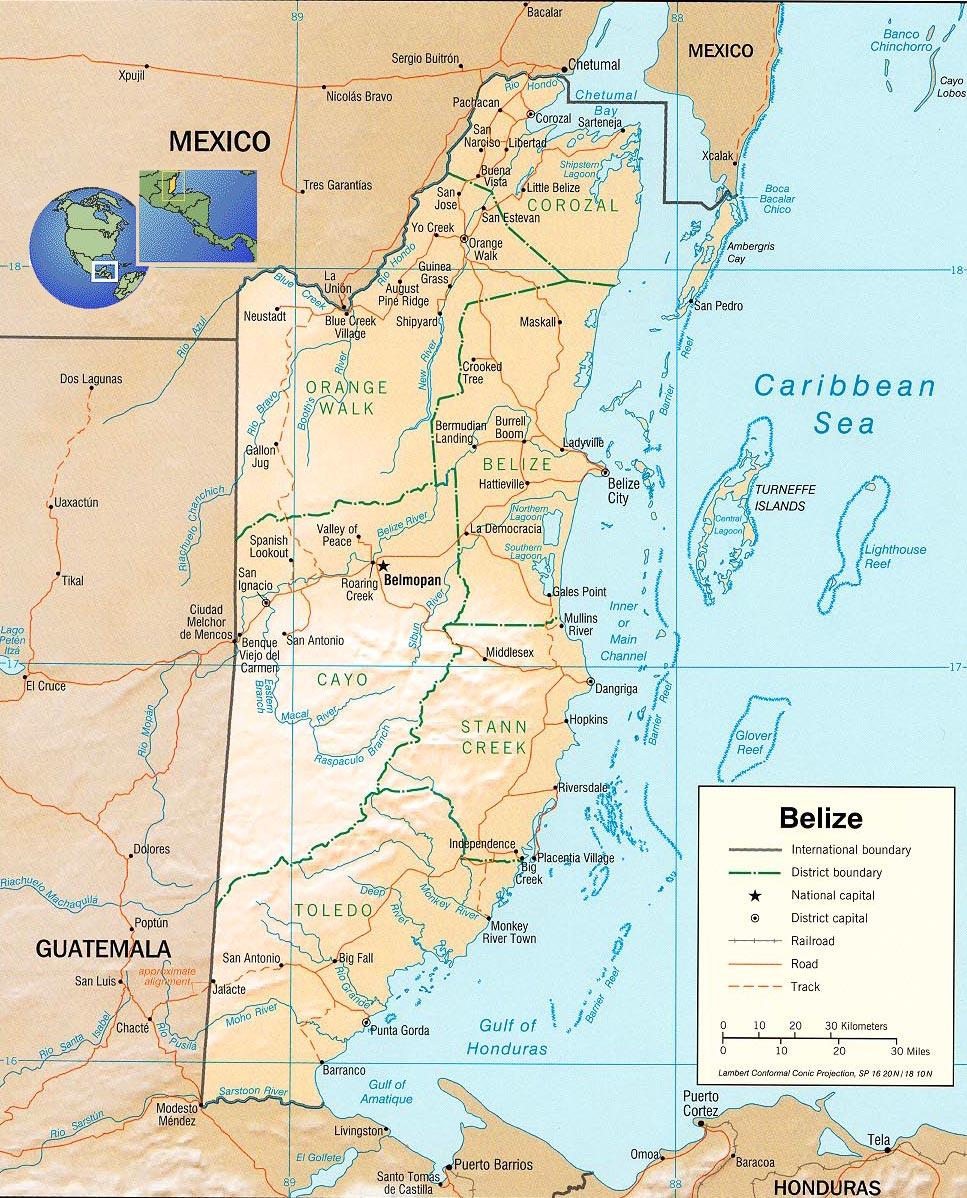 Mapas de Belize