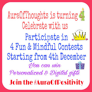 Blog Anniversary Celebration @AuraOfThoughts