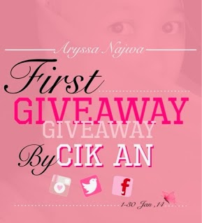 First Giveaway By Cik AN