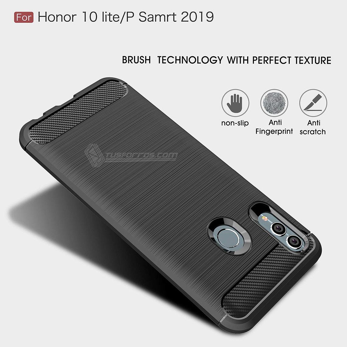 Huawei P smart 2019 Forro Fibra De Carbono Anti-Shock Máxima Protección