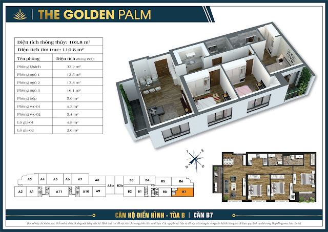 Căn B7 - 103m - The Golden Palm
