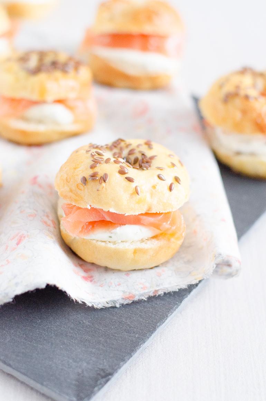 Minis bagels au saumon fum je dis m food blog lifestyle en normandie - Congeler de la creme fraiche ...
