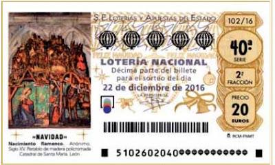 vineta decimos loteria navidad 2016