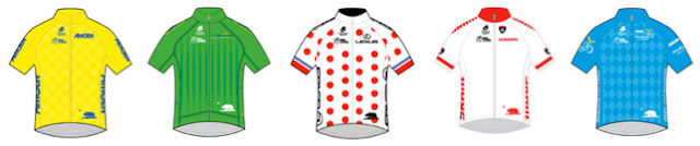 Classification jerseys for the 2016 Amgen Tour of California