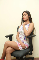 Nishi Ganda stunning cute in Flower Print short dress at Tick Tack Movie Press Meet March 2017 118.JPG