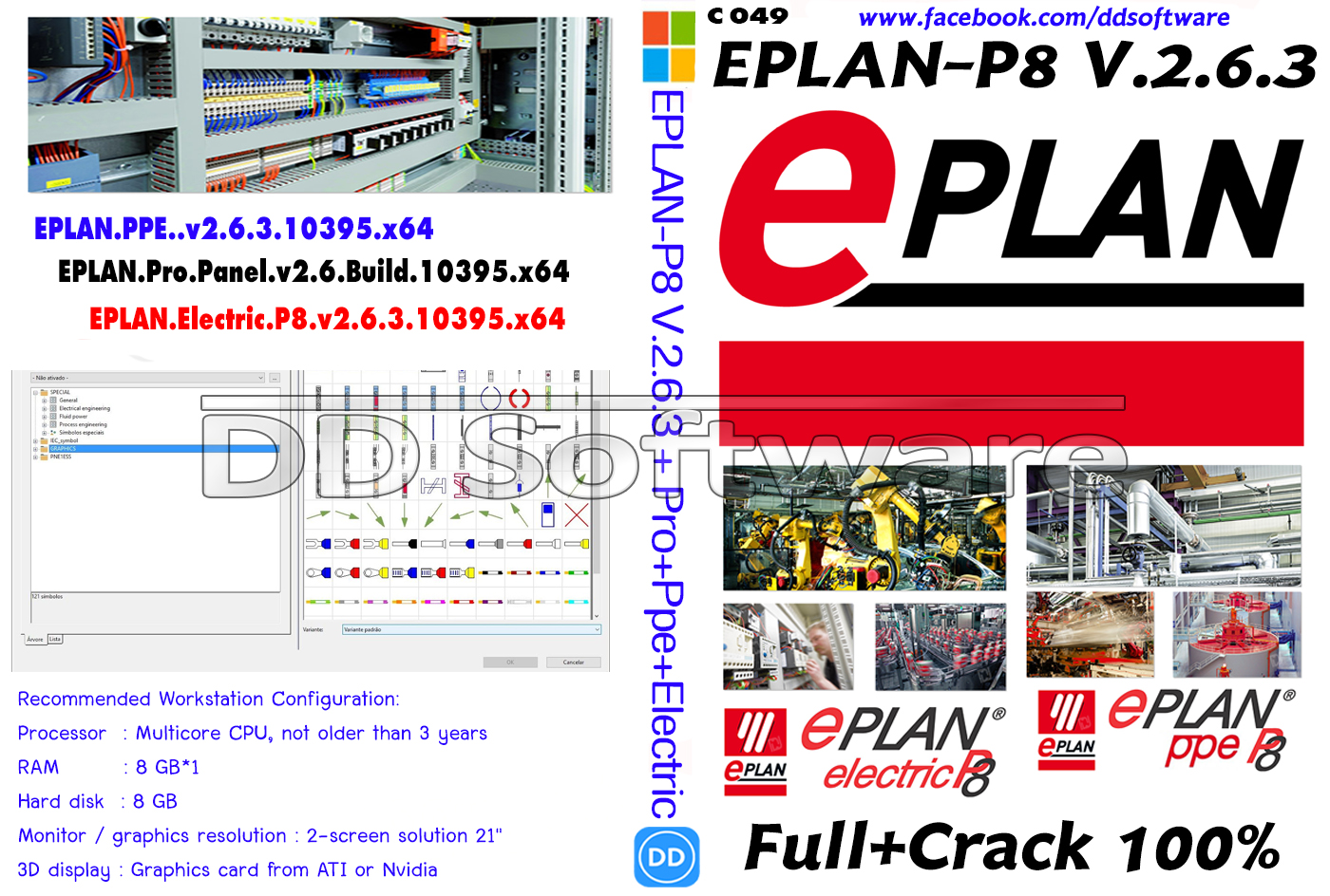 C049 EPLAN-P8 V 2 6 3 + Pro+Ppe+Electric | dd-software