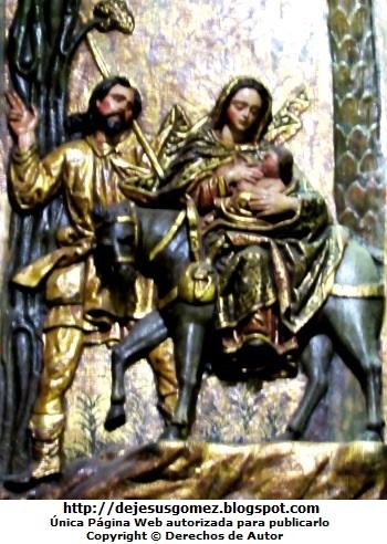 Imagen de la huida de San José junto a María y el niño Jesús a Egipto. Foto de San José de Jesus Gómez