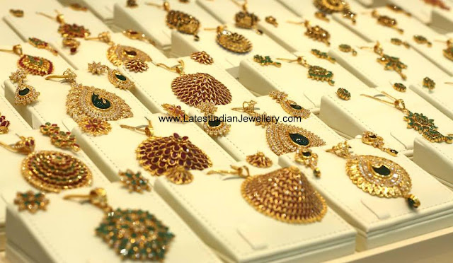 Latest Gold Pendant Set Designs