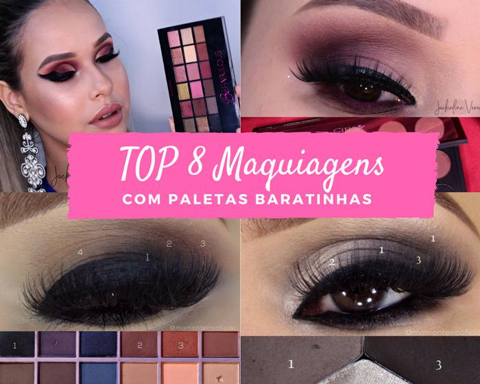 TOP 8 maquiagens do Instagram com produtos baratinhos e nacionais