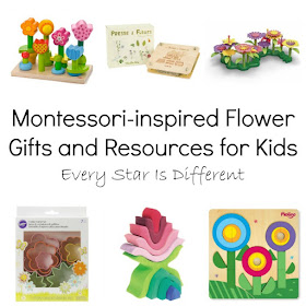 Montessori-inspired Flower Gift and Resources for Kids