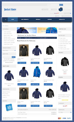 Free osCommerce 2.3.3 Template for Jacket Store