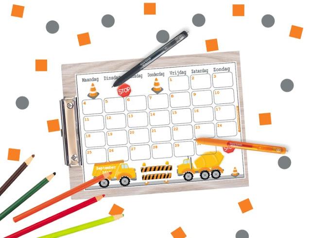 September kalender, kalender september, september 2017, school kalender, kalender school, terug naar school, kalender voor kinderen, vrolijke kalender, gratis kalender, kalender printen, kalender 2017