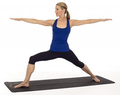 Tư thế chiến binh tăng cân khi tập yoga