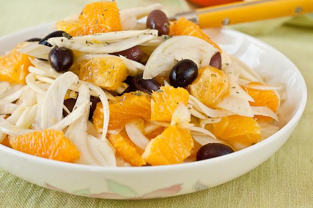 Sicilijanska salata sa komoračem i narandžama