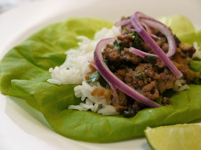 Larb! (Laotian Ground Chicken & Rice)
