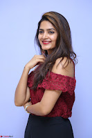Pavani Gangireddy in Cute Black Skirt Maroon Top at 9 Movie Teaser Launch 5th May 2017  Exclusive 056.JPG