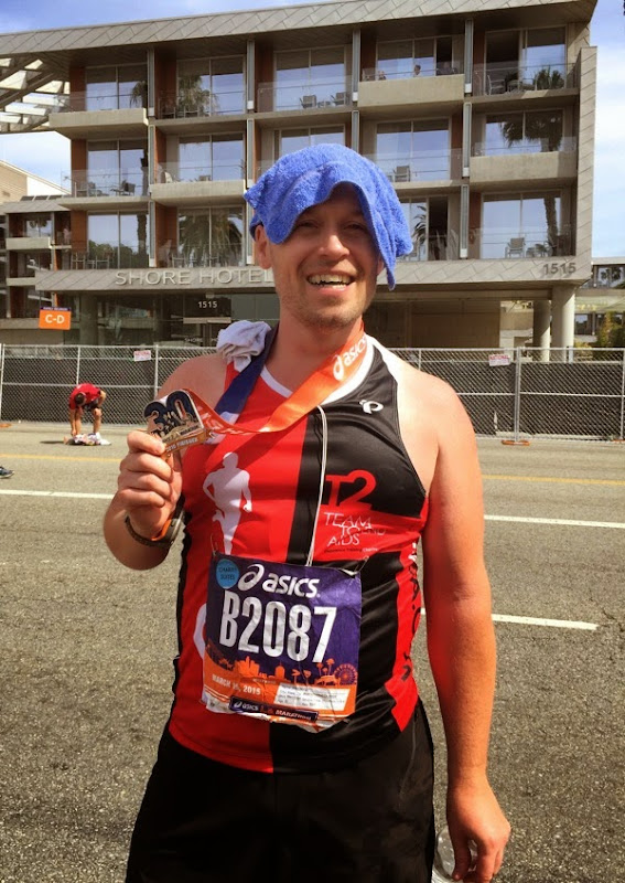 Keeping cool after 2015 LA Marathon