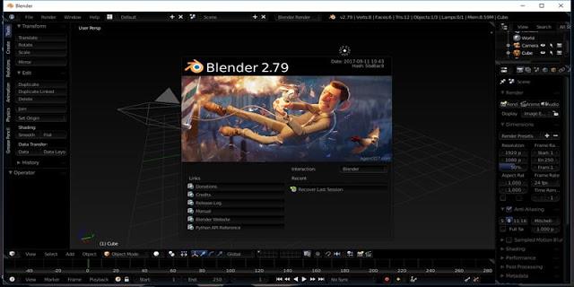 Spesifikasi PC Untuk Aplikasi Blender 3D