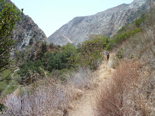 View south on Fish Canyon Trail toward the Vulcan quarry