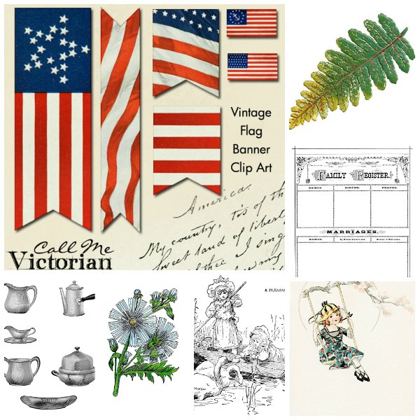 free victorian birthday clip art - photo #38