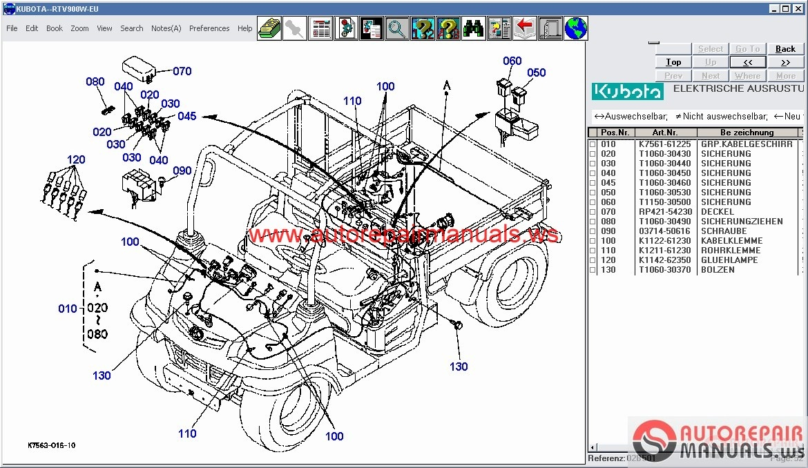 Kubota Parts Lookup : Free auto repair manual kubota tractors construction