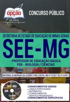 Apostila Concurso SEE-MG 2018 Professor de Biologia / Ciências