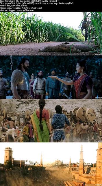Baahubali 2 The Conclusion 2017 DVDRip 480p Hindi