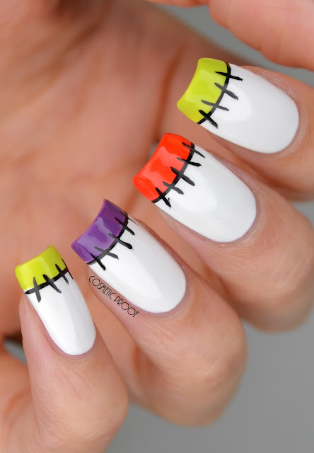 NAILS | Halloween Stitches French Manicure | Cosmetic ...