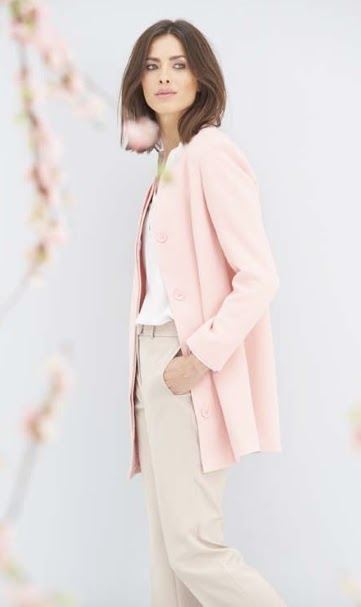 Damart Collarless coat