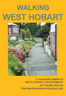 Walking West Hobart map