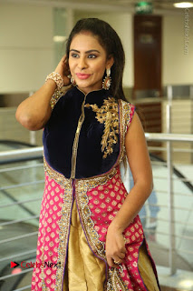 Telugu Actress Sri Reddy Mallidi Stills in White Beautiful Dress at Marriage Needs Bridal Fashion Week 2017 Logo Launch  0064.JPG
