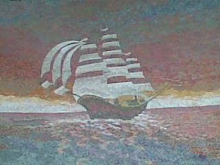 Aha Adang Hutomi Artistik Lukisan Kolase Kain Perca