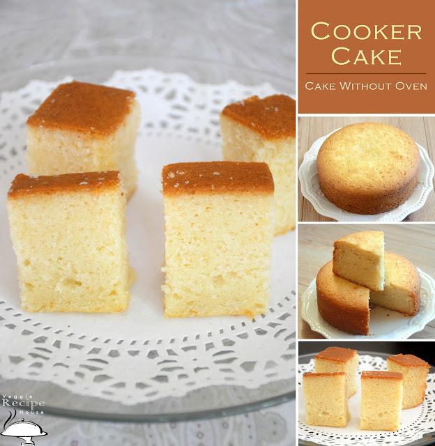 Sponge Cake In Cooker | Eggless Vanilla Sponge Cake