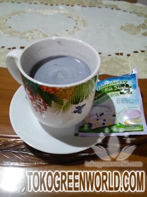 green world blueberry soybean milk drink