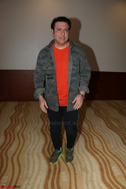 Govinda with wife Sunita Ahuja and Son Yashvardan Ahuja at Screening Of her new movie Aa a Hero 1.JPG