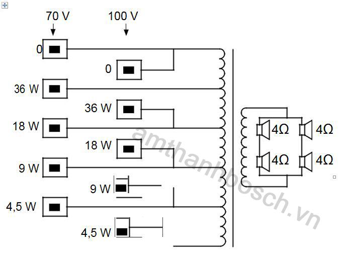 Sơ đồ nốí mạch lao cột LA1-UW36-x1