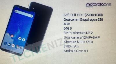 Розкрито специфікації Motorola One Power