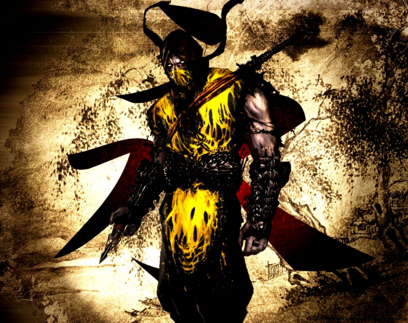 Mortal kombat scorpion wallpapers full hd wallpapers - Mortal kombat scorpion wallpaper ...