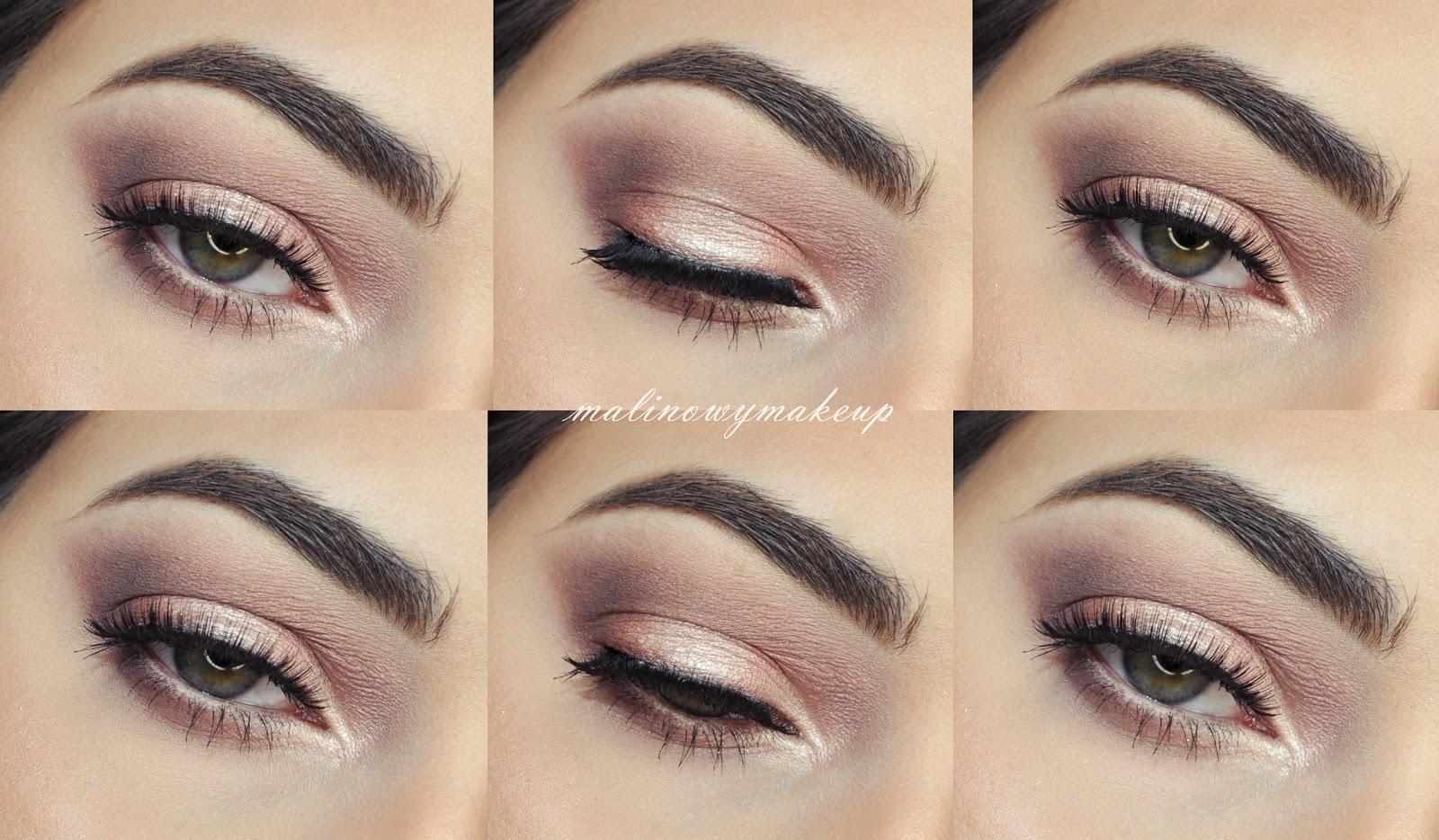 makijaż oka makeup brudny róż przygaszony opadająca powieka okrągłe oczy wieczorowy spotlight golden rose