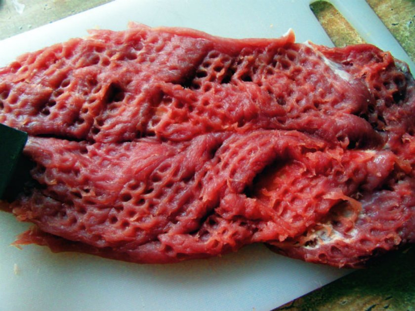 Italian style stuffed pork tenderloin by Laka kuharica: make incision down the length of the tenderloin; open the meat like a book.