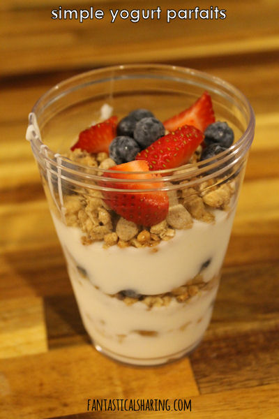 Simple Yogurt Parfait #breakfast #parfait #granola #yogurt #snack #recipe
