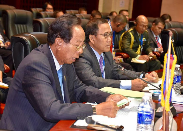 ambodia's Defence Minister Tea Banh attends an ASEAN defence ministers meeting in Vientiane, Laos earlier this week. Photo supplied