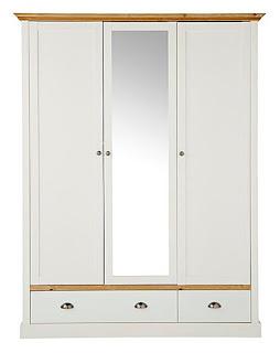 lemari pintu 3 bahan kayu jati warna putih