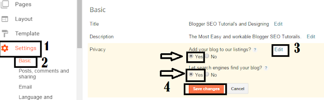Follow these steps and allow robot to find your blog during search.