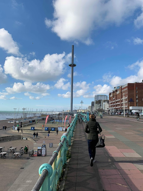 Brighton Seafront with view of British Airways i360. Pic courtesy of JTK Willmore