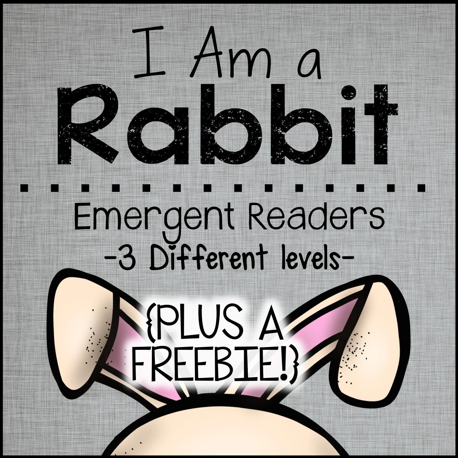 The Barefoot Teacher: I Am a Rabbit - Differentiated ...