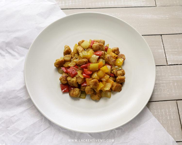 Vegan τηγανιά με κεμπάπ σόγιας