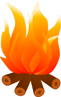 Fire Clipart, Cooking Fire Clipart, Campfire Clipart
